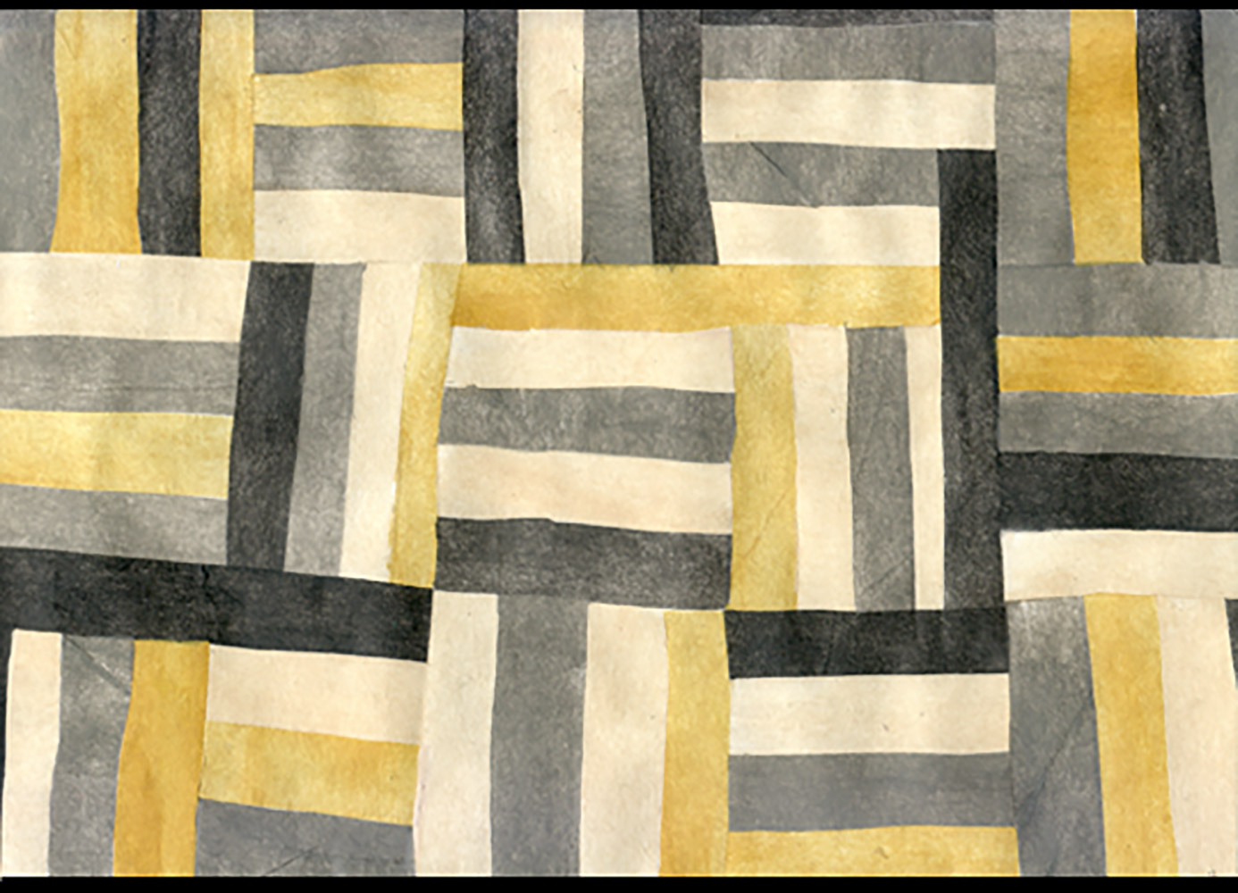 Gold and Grey Quilt Wall