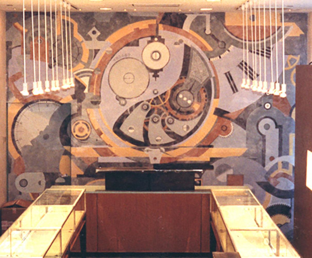 Clock Mural